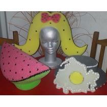 Promo 30 Sombreros Y Vinchas De Goma Espuma-