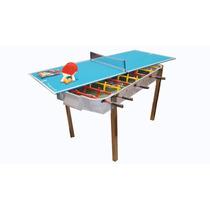 Metegol + Ping Pong + Kit - Fundicion 32kg Yeerom De Fabrica