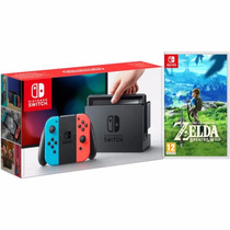 Nintendo Switch 32gb Neon + Juego Zelda Fisico - Garantia !!