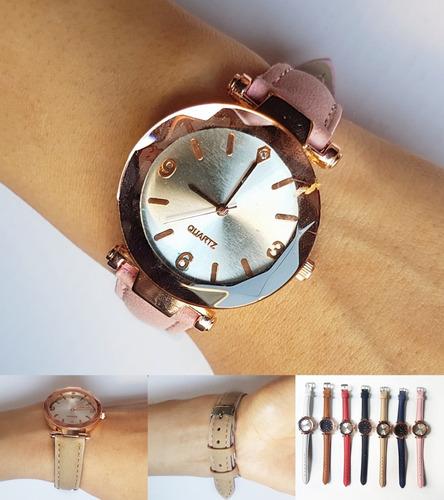 e1f02e731a73 .x5 Unidades Reloj De Mujer Pulsera malla Cuerina X Mayor