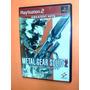 Metal Gear Solid 2 (605) Ps2 - Completo Con Caja Y Manual