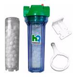 Filtro Agua Sal Polifosfato Anti Sarro Hidroquil 10  Rosca 1'' Bronce Protege Caño Canilla Tanque Electrodoméstico