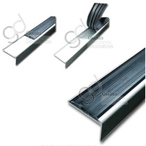 Angulo Nariz Escalon Antideslizante Paso 2938 Pvc Aluminio