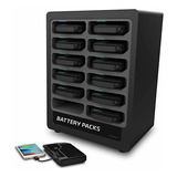 Chargetech Bateria Pack Dispenser Dock 12 Recargable Power ®