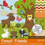 Kit Imprimible Animales Del Bosque 4 Imagenes Clipart