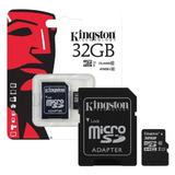 Memoria Micro Sd 32gb Clase 10 Kingston Gtia
