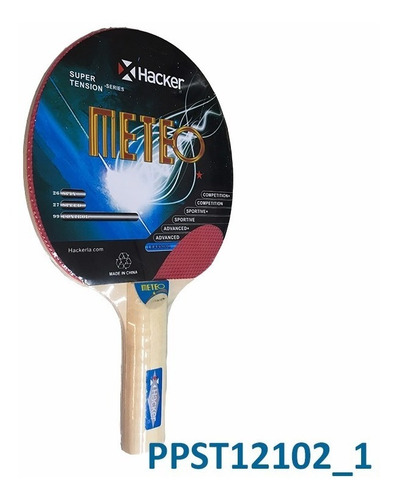 Paleta De Ping Pong Hacker Meteo 1* Full