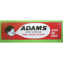 Antiguo Cartel Chapa Goma De Mascar Chiclets Adams