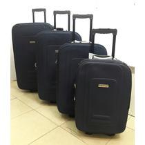 Set X 4 Valijas Semirigidas Reforzadas + Almohada De Viaje