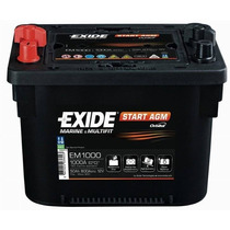 Bateria Exide Em1000 Agm Orbital 1000amp Similar Optima Red