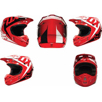 Casco De Cross Fox V1 Red Talle M