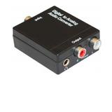 Conversor Convertidor Optico Digital A Salida Rca  Cabl Incl