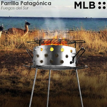 Parrilla Patagonica Disco Arado Plancha Bifera Camping 50 Cm