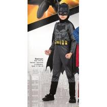 Disfraz De Batman Con Capa Y Mascara De Goma Varios Talles