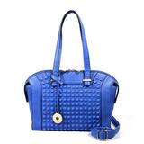 Cartera Con Tachas Laterales Color Azul Carla Danelli