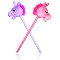 Unicornio Con Palo Peluche Con Sonido 80cm Rosa Violeta Pony