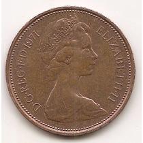 Moneda Gran Bretaña Inglaterra 2 New Pence Año 1971