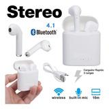 Auricular I7s Bluetooth Manos Libres Earbuds Air Base Carga