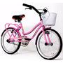 Bicicleta Playera 20 Cuadro Full Canasto Nena Halley 19333