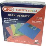 Diskettes 3 1/2 Gtc Color 10 Unidades En Caja Nuevos V2582+