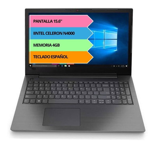 Notebook Lenovo N4000 4gb 128gb Ssd Hd 15.6 Pulgadas Dvdrw
