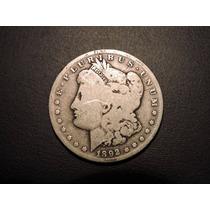 Estados Unidos 1 Morgan Dolar 1892s De Plata Muy Escaso