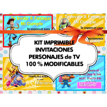 Kit Imprimible Y Modificable Invitaciones De Cumples2x1