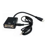 Cable Conversor Mini Hdmi A Vga Con Audio Video 1080p Fact A