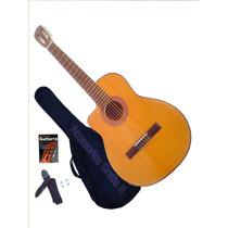 Guitarra Electro Criolla Zurdo Eq Afinador Media Caja