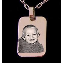 Foto Medalla Plata 925 Personalizada Con Cadena Plata Hombre