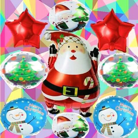 Pack De Globos Navidad