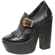 Zapato Dama Mocasin Con Fleco Y Hebilla - Delp1018