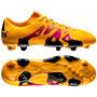 Botines Adidas X 15.2 Fg-ag Gold/black/pink Nuevo Modelo