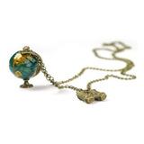 Collar Globo Terráqueo - Mapamundi Mapa Wanderlust Mundo