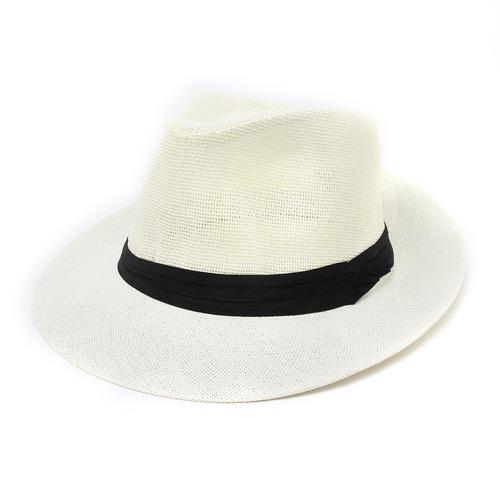 Sombrero Mujer Estilo Panama Sol Verano Playa 7be9b7bffa3