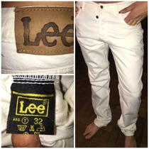 Pantalon Lee 42 Blanco Hombre