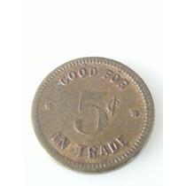 Moneda Ficha Estados Undos 5 Cent Slot Machine Chicago