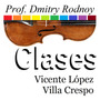 Clases - Violoncello - Prof. Dmitry Rodnoy