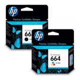 Cartucho Hp 664 Negro + Color 1115 2135 3635 3835 4535
