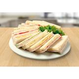 Sandwiches De Miga Triples Surtidos  9x 7jam,queso,huevo,tom