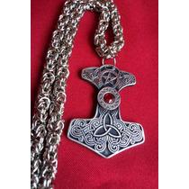 Celta Mjolnir Martillo Thor Con Cadena 50cm