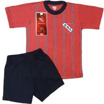 Equipo Pijama Independiente Oficial Remera Club Niños Futbol