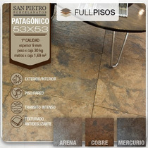 Porcelanato Patagonico 53x53 Mercurio Cobre Arena. La Plata