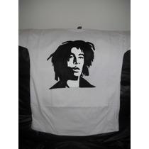 Remera Pintada A Mano Con La Imagen De Bob Marley