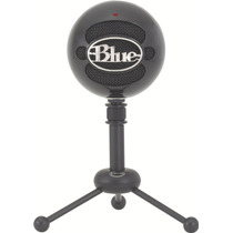 Microfono Usb Blue Snowball Gloss Black- Fact. A Y B