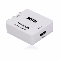 Conversor Rca Av A Video Hdmi Noteboook Proyector Tv 1080p