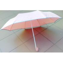 Paraguas Antiviento Con Sistema De Siliconas Y Mango Curvo