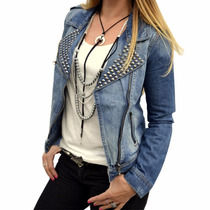 Campera De Jean Rockera Mujer The Big Shop
