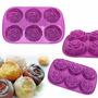 Molde Silicona Mini Torta,flan,gelatina,muffin Rosa,jabón
