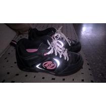 Zapatillas Heelys Con Ruedas T;35 Importadas
